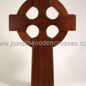 16 Inch Mahogany Irish Celtic Cross front