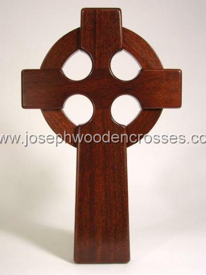 16 Inch Mahogany Irish Celtic Cross front