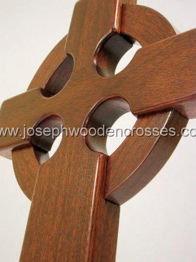 16 Inch Mahogany Irish Celtic Cross