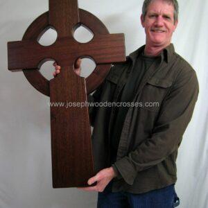 3 Foot Mahogany Irish Celtic Cross