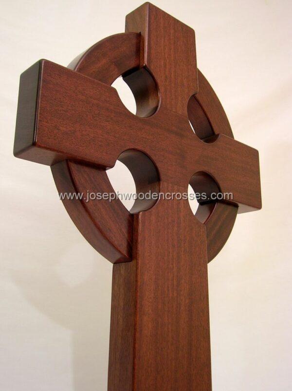 3 Foot Mahogany Irish Celtic Cross bottomright
