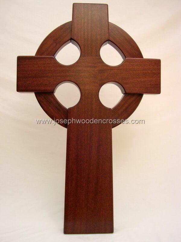 3 Foot Mahogany Irish Celtic Cross front closeup