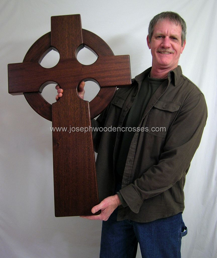 3 Foot Mahogany Irish Celtic Cross