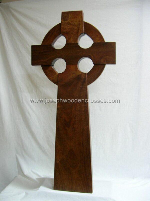 4 Foot Mahogany Celtic Cross bottom left