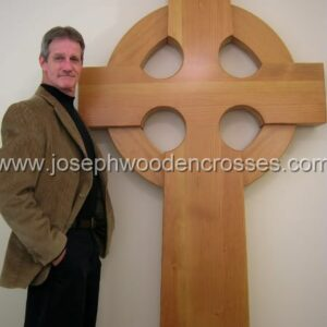 6 Foot Wood Celtic Wall Cross