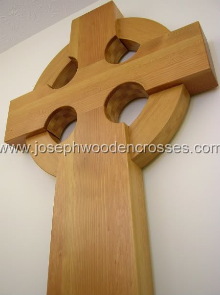 6 Foot Wood Celtic Wall Cross bottom left