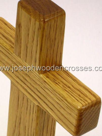 975inch Oak Wall Cross topleft