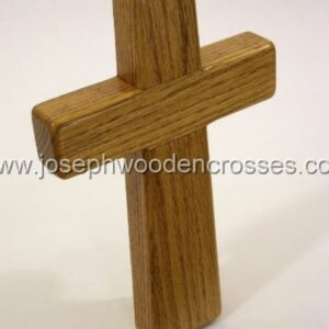 975inch Oak Wall Cross topright