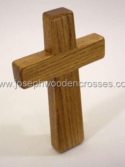 975inch Oak Wall Cross topright