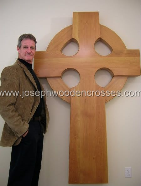 Home Page 6 foot Celtic Wood Cross