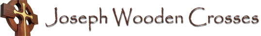 Joseph Wooden Crosses Logo with cross