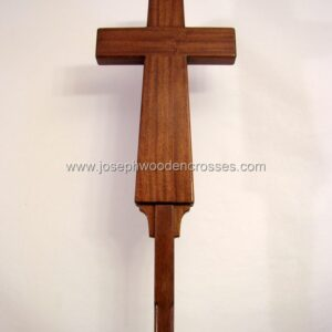 Latin Processional Cross in Mahogany