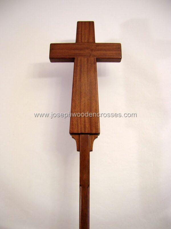 Latin Processional Cross in Mahogany