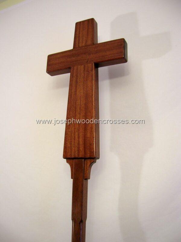 Latin Processional Cross in Mahogany bottom left