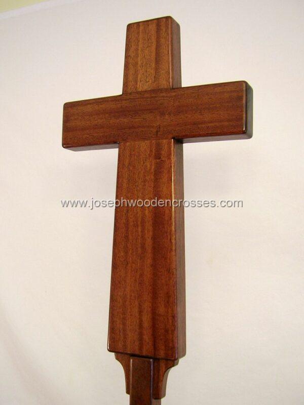 Latin Processional Cross in Mahogany bottom left close