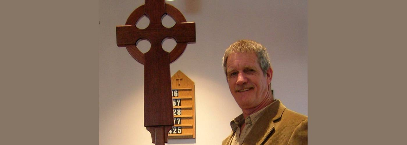 banner processional cross with joe cropped joseph wooden crosses